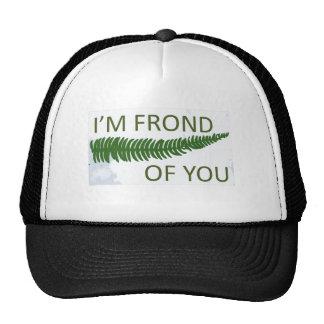 'I'm frond of you' Fern leaf design Trucker Hat