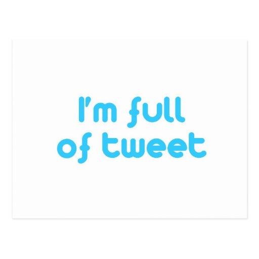 I'm full of tweet postcards