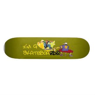I'm G Skateboard-Graffiti - green/yellow Skateboard