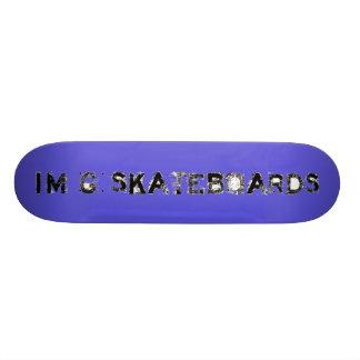 I'm G Skateboards (Acid Label FONT) - blue