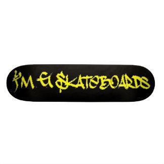 I'm G Skateboards (Stylin BRK Font) - black/yellow