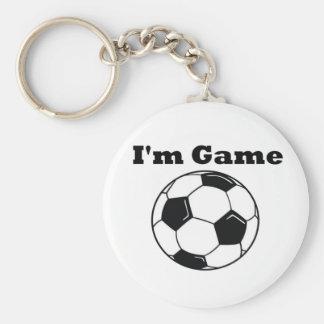 I'm Game (Soccer) Keychain
