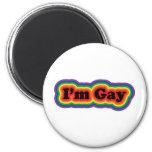 I'm Gay 2 Inch Round Magnet