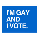 I'M GAY AND I VOTE POSTCARD