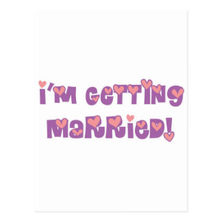I'm Getting Married Postcard