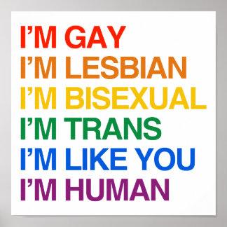 I'M GLBT I'M HUMAN POSTER