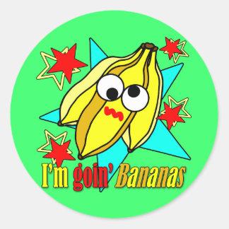 I'm Goin' Bananas Classic Round Sticker