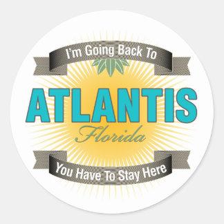 I'm Going Back To (Atlantis) Classic Round Sticker