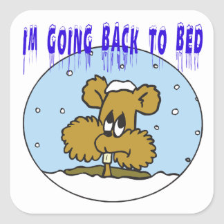 Im Going Back To Bed Square Sticker