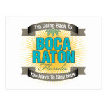 I'm Going Back To (Boca Raton) Postcards