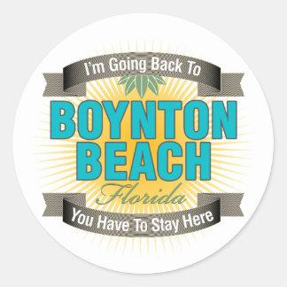 I'm Going Back To (Boynton Beach) Classic Round Sticker