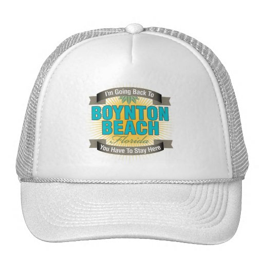 I'm Going Back To (Boynton Beach) Trucker Hat