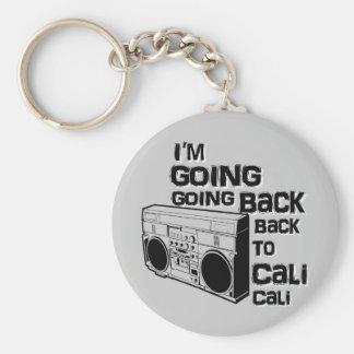 I'm Going Back To Cali-Keychain Basic Round Button Keychain