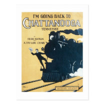 I'm Going Back to Chattanooga Tennessee Songbook C Postcard