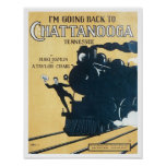 I'm Going Back to Chattanooga Tennessee Songbook C Posters