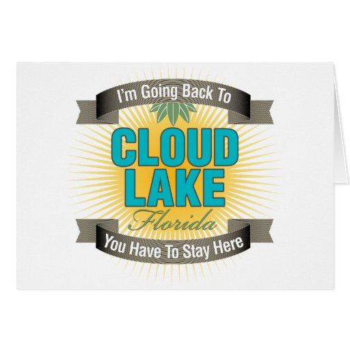 I'm Going Back To (Cloud Lake) Card