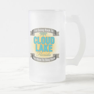 I'm Going Back To (Cloud Lake) Frosted Glass Beer Mug