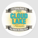 I'm Going Back To (Cloud Lake) Round Sticker