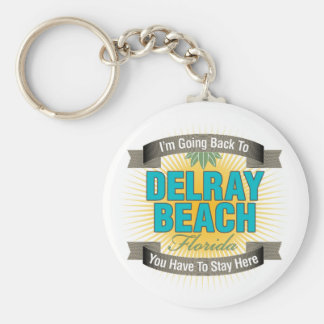 I'm Going Back To (Delray Beach) Basic Round Button Keychain
