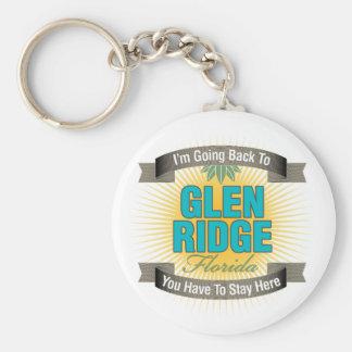 I'm Going Back To (Glen Ridge) Basic Round Button Keychain
