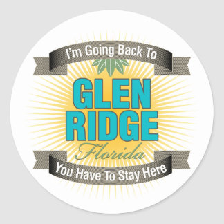 I'm Going Back To (Glen Ridge) Classic Round Sticker