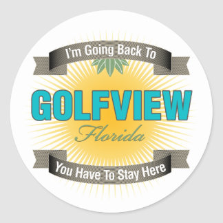 I'm Going Back To (Golfview) Stickers