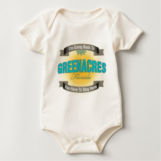 I'm Going Back To (Greenacres) Baby Bodysuit