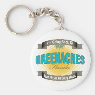 I'm Going Back To (Greenacres) Keychain