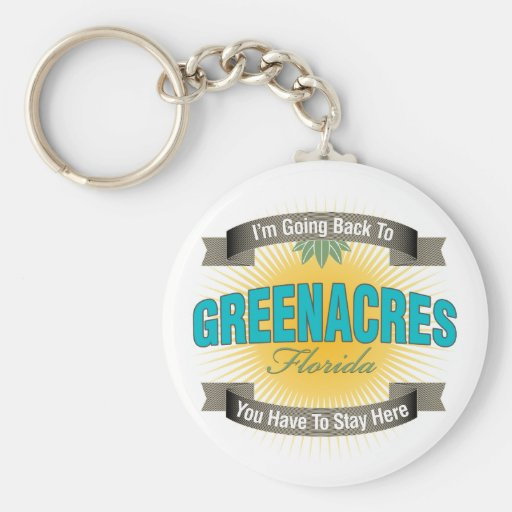 I'm Going Back To (Greenacres) Basic Round Button Keychain