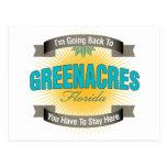 I'm Going Back To (Greenacres) Postcard