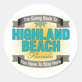 I'm Going Back To (Highland Beach) Classic Round Sticker