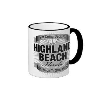 I'm Going Back To (Highland Beach) Ringer Coffee Mug