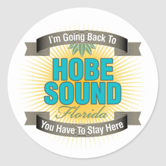 I'm Going Back To (Hobe Sound) Classic Round Sticker