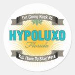 I'm Going Back To (Hypoluxo) Round Stickers