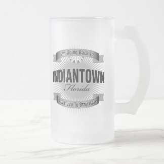 I'm Going Back To (Indiantown) 16 Oz Frosted Glass Beer Mug
