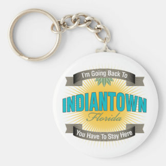 I'm Going Back To (Indiantown) Basic Round Button Keychain