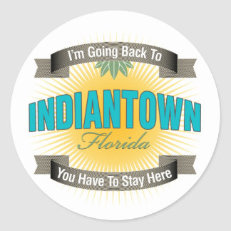 I'm Going Back To (Indiantown) Classic Round Sticker