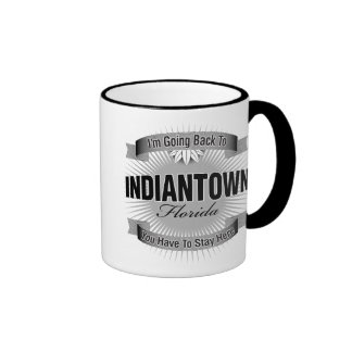 I'm Going Back To (Indiantown) Ringer Coffee Mug