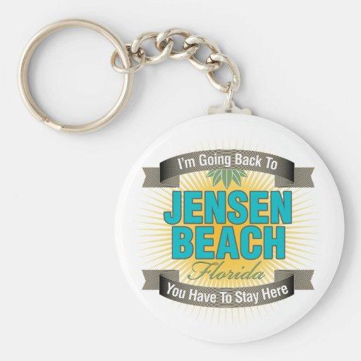 I'm Going Back To (Jensen Beach) Basic Round Button Keychain