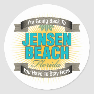 I'm Going Back To (Jensen Beach) Classic Round Sticker