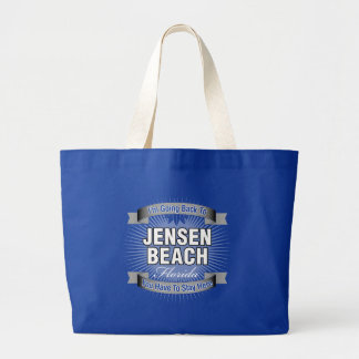 I'm Going Back To (Jensen Beach) Large Tote Bag