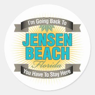 I'm Going Back To (Jensen Beach) Round Sticker