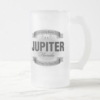 I'm Going Back To (Jupiter) Frosted Glass Beer Mug