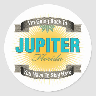 I'm Going Back To (Jupiter) Round Stickers