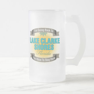 I'm Going Back To (Lake Clarke Shores) 16 Oz Frosted Glass Beer Mug