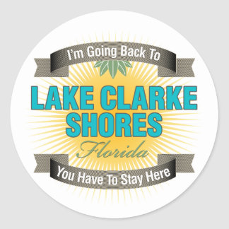 I'm Going Back To (Lake Clarke Shores) Round Stickers
