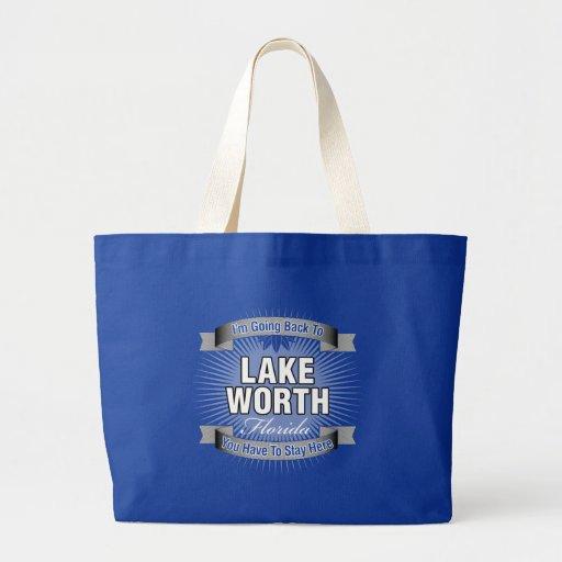 I'm Going Back To (Lake Worth) Jumbo Tote Bag
