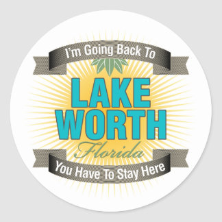 I'm Going Back To (Lake Worth) Stickers