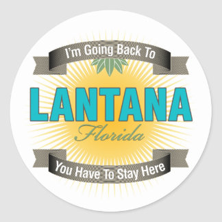 I'm Going Back To (Lantana) Classic Round Sticker