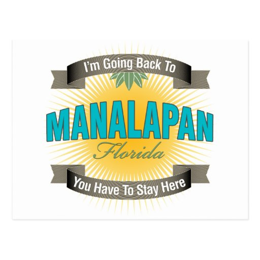 I'm Going Back To (Manalapan) Postcard